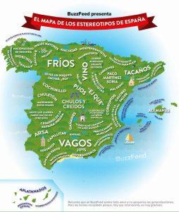 Mapa de España Humorístico